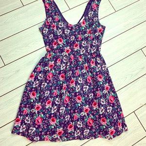 Super Cute Navy Blue Floral Dress by Lauren Conrad
